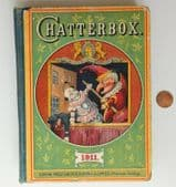 Chatterbox children's annual 1911 pre-war book boys and girls stories puzzles